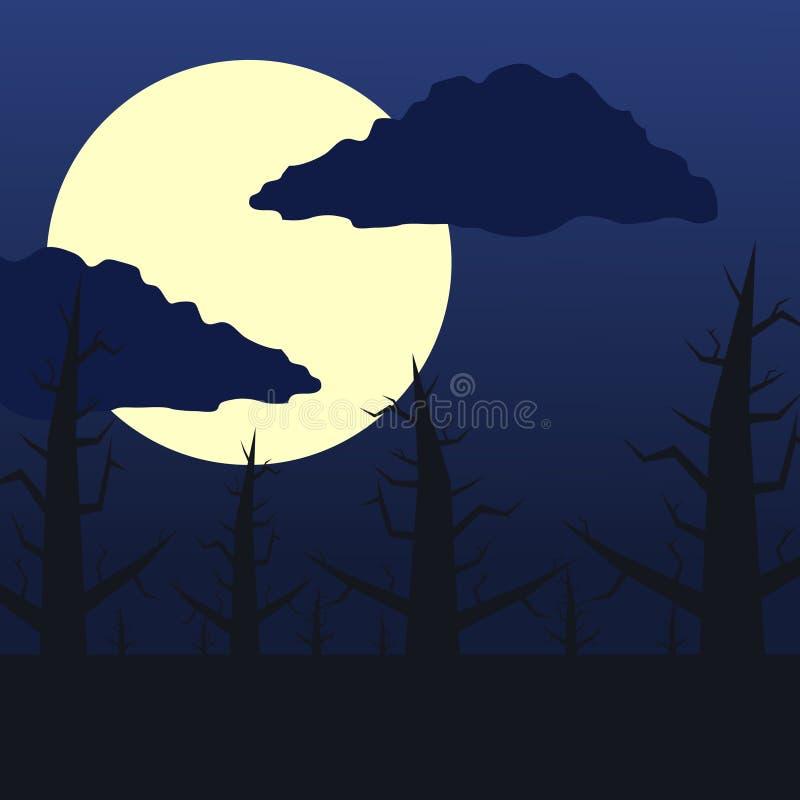 黑暗的森林月亮 免版税库存图片
