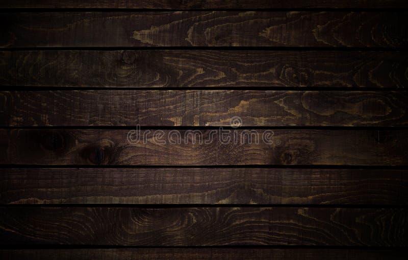 黑暗的纹理木头 背景老面板 免版税库存图片