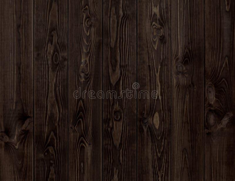 黑暗的纹理木头 背景黑暗的木盘区 免版税库存图片