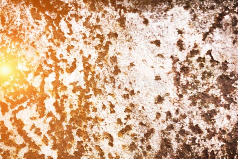 黑暗的被佩带的生锈的金属纹理背景 免版税库存图片