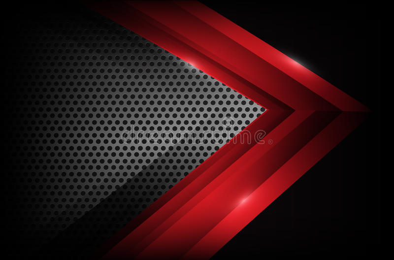 黑暗的铬钢和红色交叠元素提取背景ve 皇族释放例证