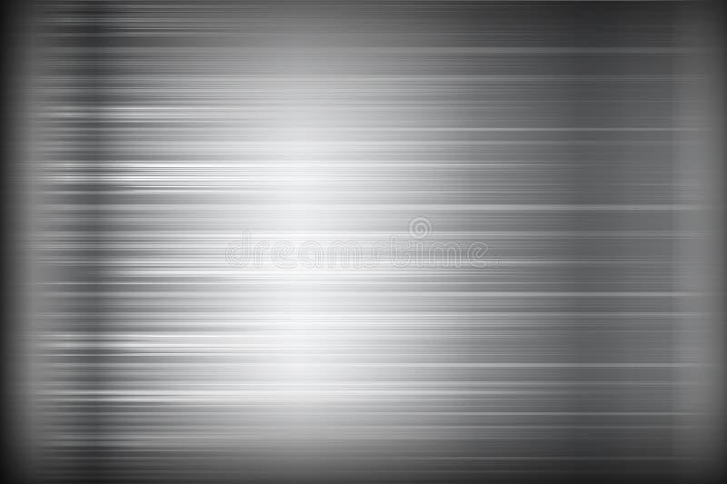 黑暗的镀铬物黑和灰色背景纹理传染媒介例证 向量例证