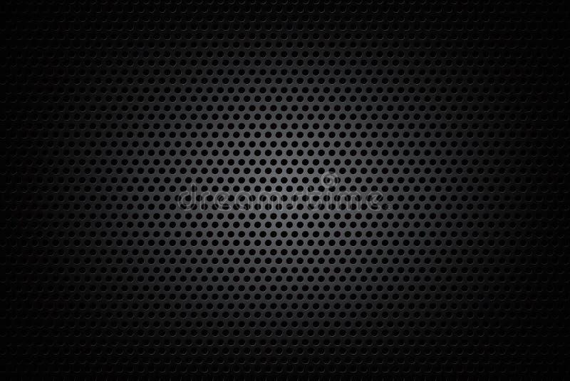 黑暗的镀铬物黑色和齿轮背景构造传染媒介例证 库存例证