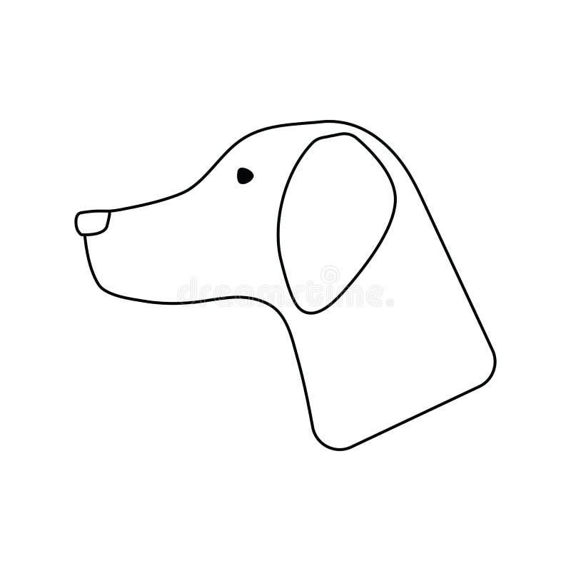 暗示的狗象有 向量例证
