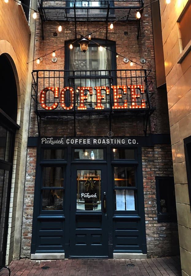 暗藏的咖啡店 免版税图库摄影