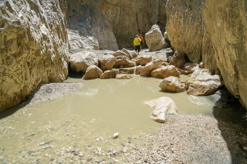 暗藏的城市峡谷fethiye, Mugla,土耳其 免版税库存图片