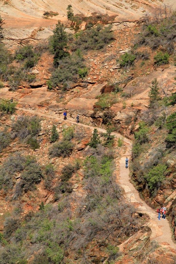 暗藏的峡谷远足者 库存照片