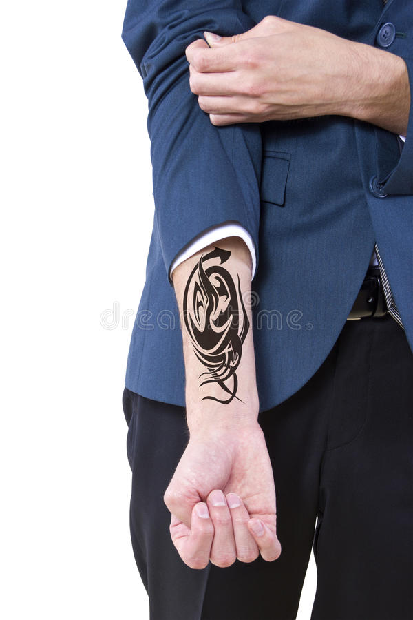 暗藏的纹身花刺 免版税图库摄影