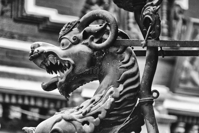 暗藏的dragonÂ的加德满都 免版税库存图片