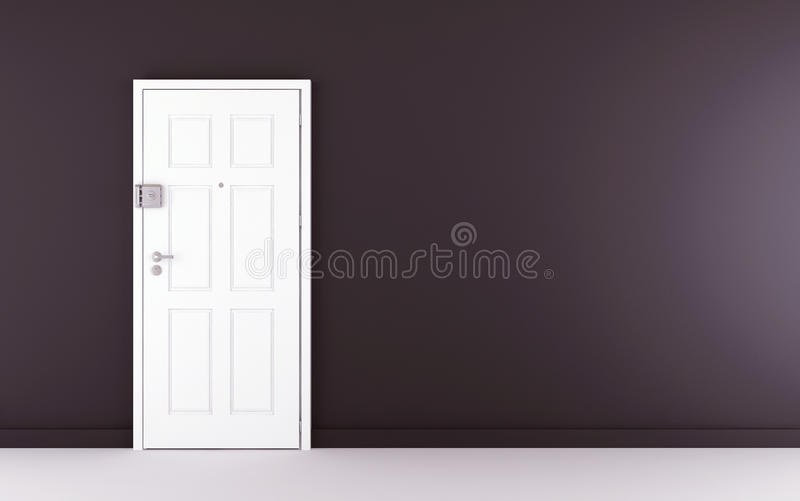 暗门墙壁白色 向量例证
