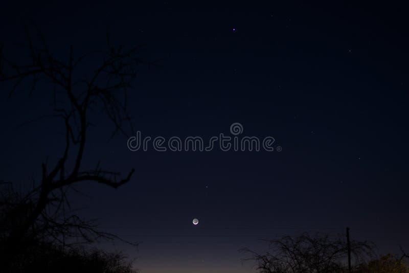暮色天空在南非在冬天 免版税库存图片
