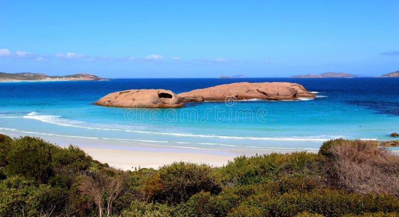 暮色海滩在埃斯佩兰斯,澳大利亚西部 图库摄影