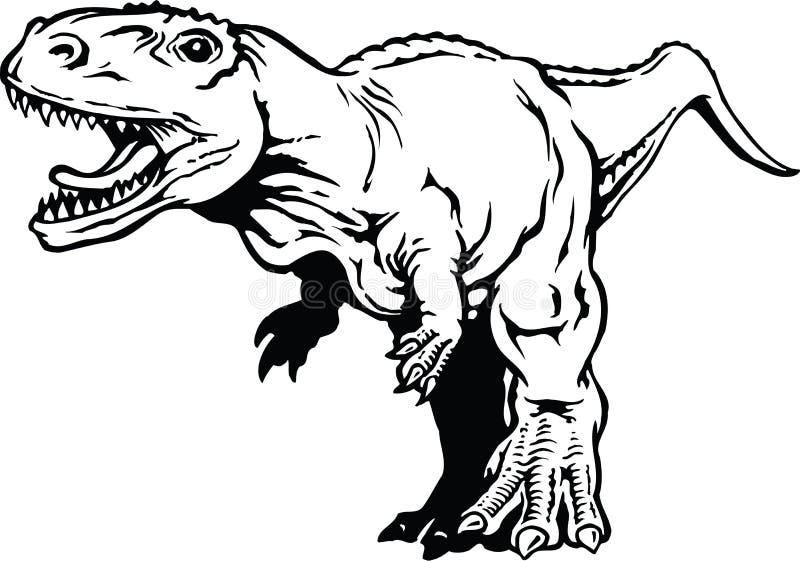 暴龙rex的传染媒介例证图片