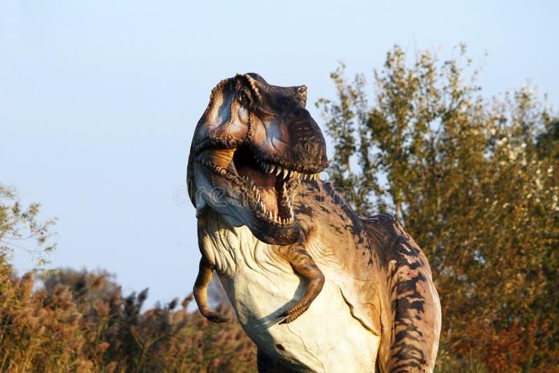 暴龙rex -奥斯泰拉托,费拉拉,意大利的暗示重建 库存照片