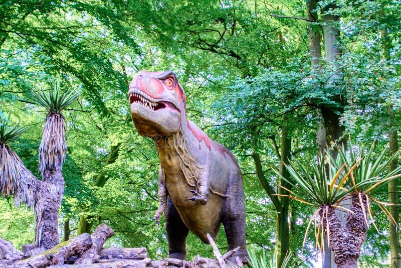 暴龙rex 3D模型身分 免版税库存图片