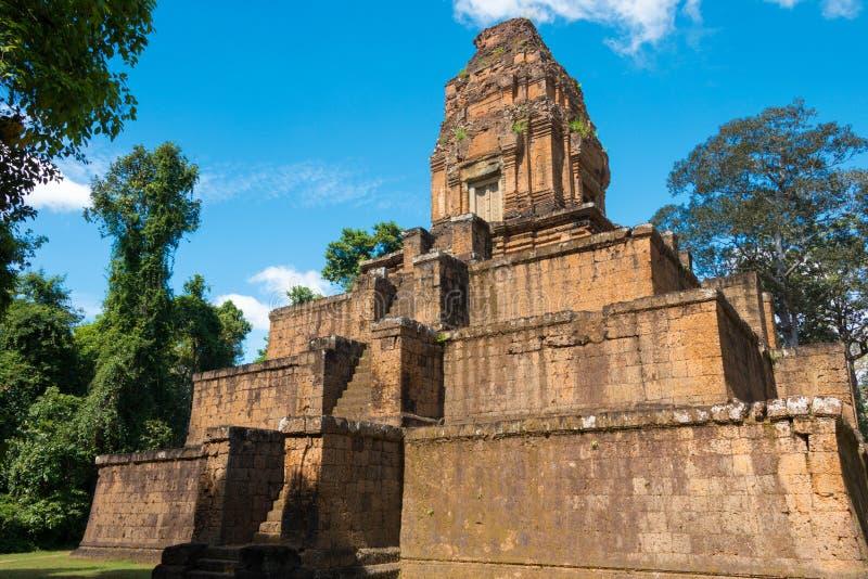 暹粒,柬埔寨- 2016年12月05日:Baksei Chamkrong在吴哥 A 免版税库存照片