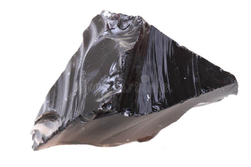黑曜石矿物 库存图片