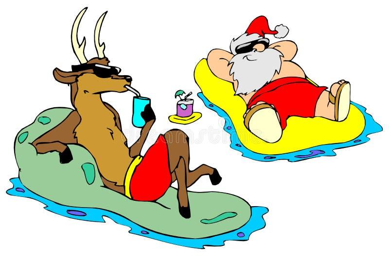曝光圣诞老人星期日 向量例证