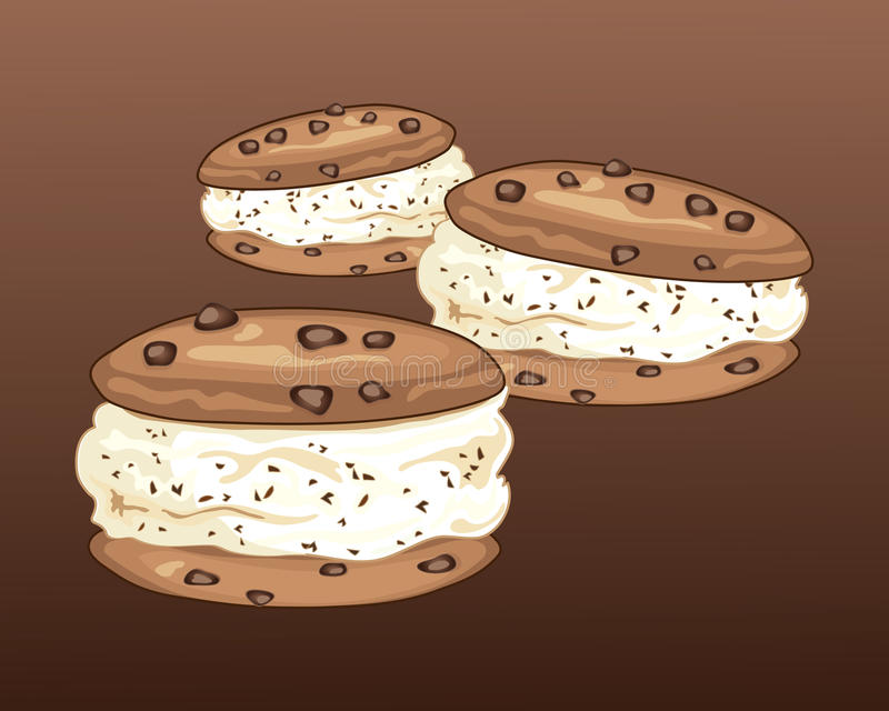 曲奇饼三明治 皇族释放例证