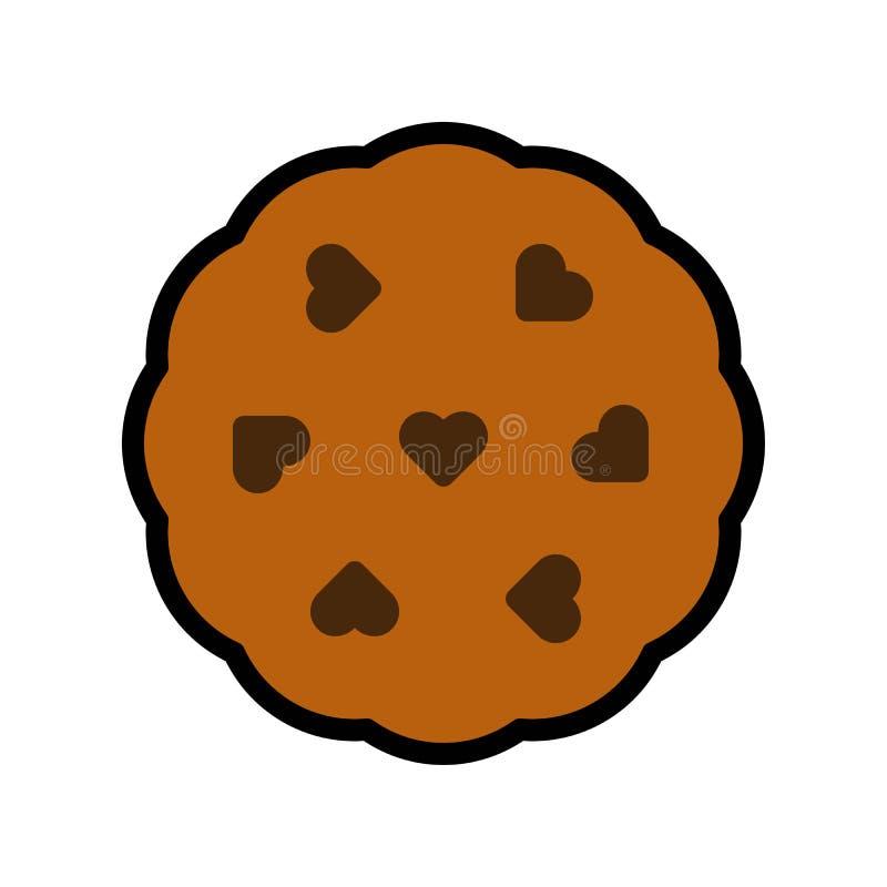 曲奇饼传染媒介例证,填装了样式象编辑可能的概述 库存例证