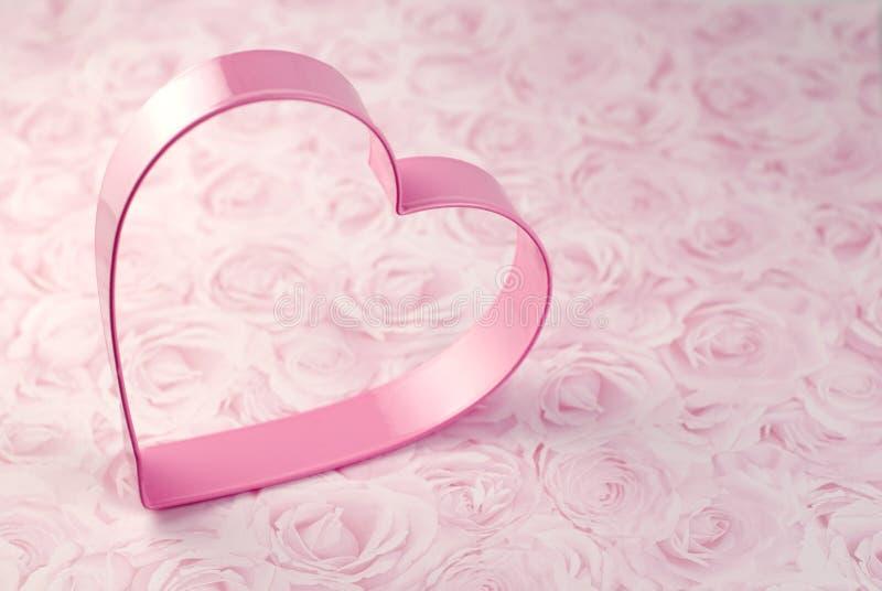 曲奇饼切割工重点粉红色 免版税图库摄影