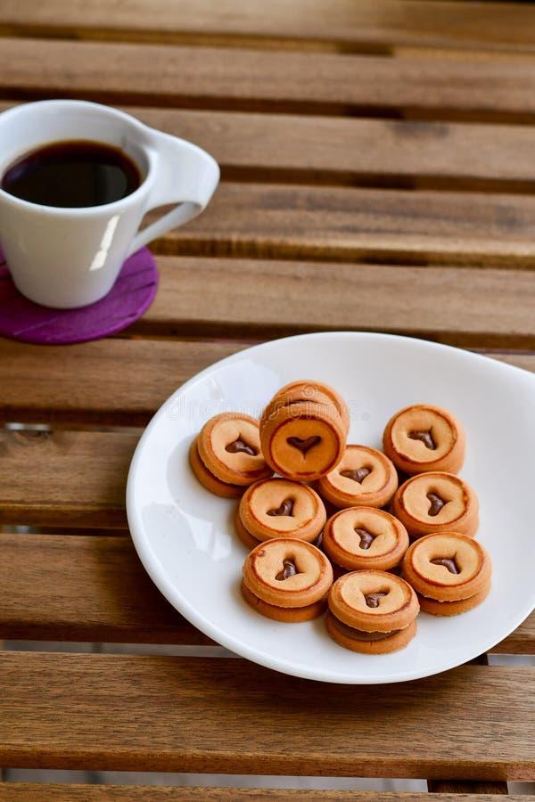 曲奇饼和咖啡 免版税图库摄影