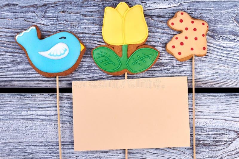 曲奇饼和空插件 图库摄影