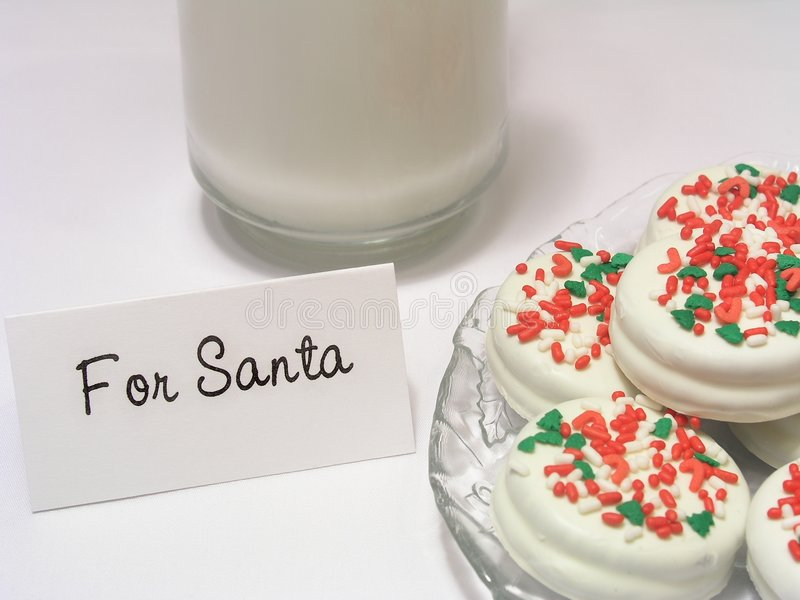 曲奇饼圣诞老人 库存照片