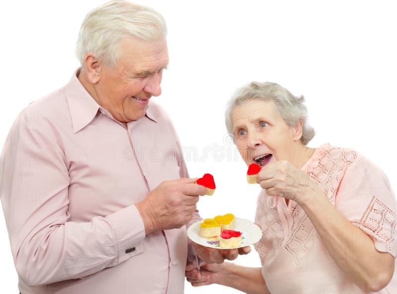曲奇饼夫妇重点老形状 库存照片