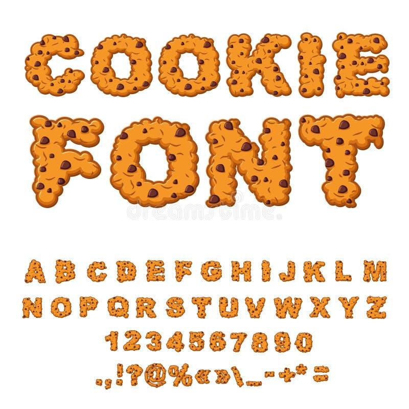 曲奇饼字体 与黑人字母表的饼干 信件  皇族释放例证