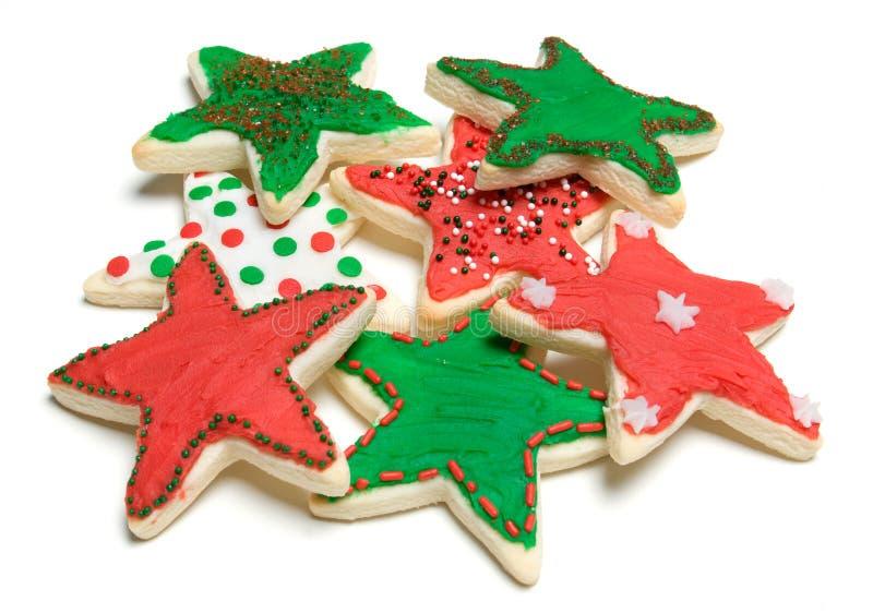 曲奇饼形状的星形 免版税库存照片