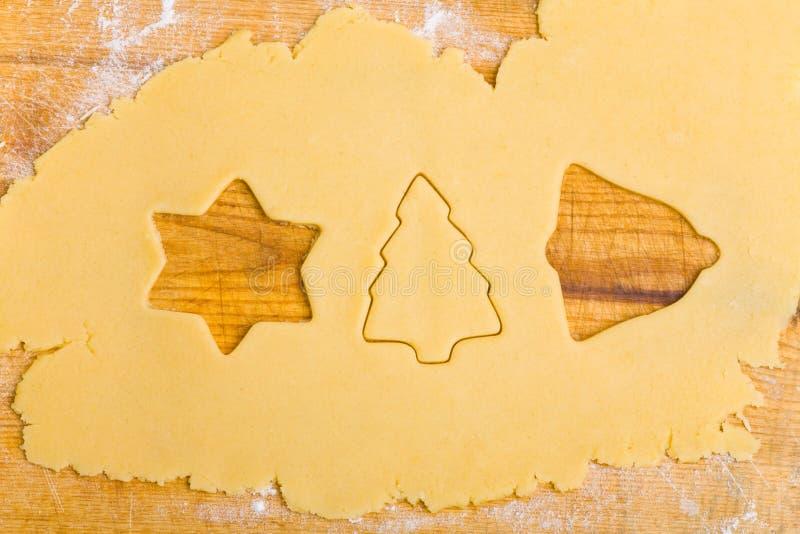 曲奇饼更加逗人喜爱的不同的形状 库存图片
