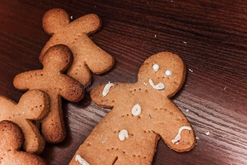 曲奇饼男孩,可口装饰的假日 免版税库存图片
