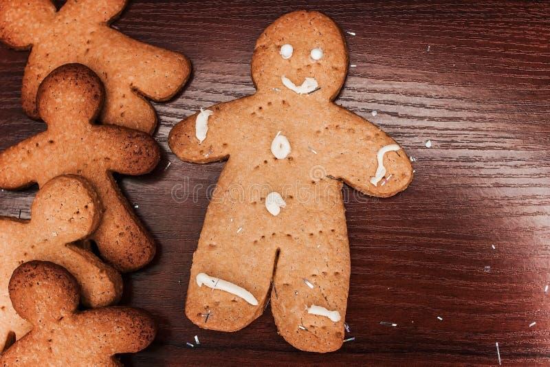 曲奇饼男孩,可口装饰的假日 免版税库存照片