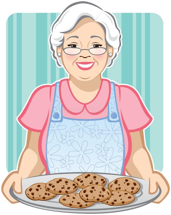 曲奇饼祖母s 向量例证