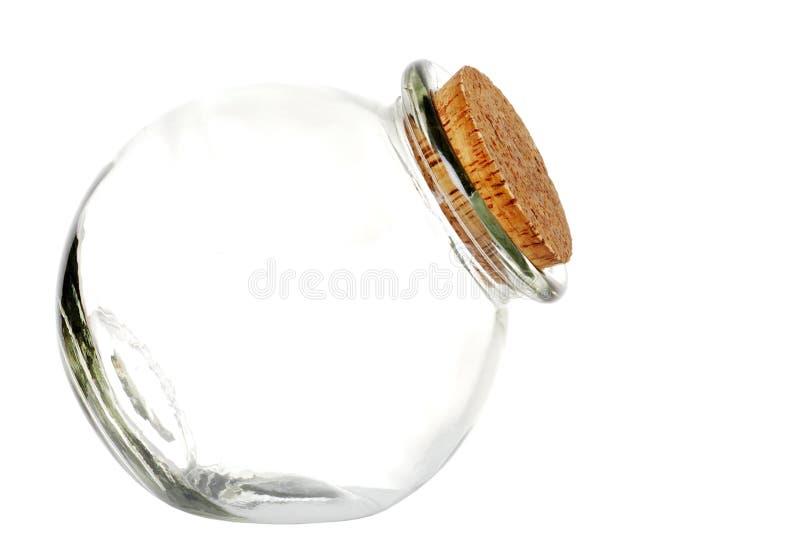 曲奇饼空的瓶子 免版税库存图片