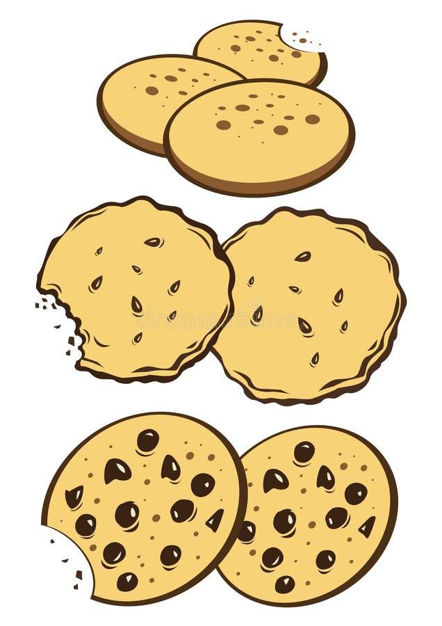 曲奇饼 库存例证