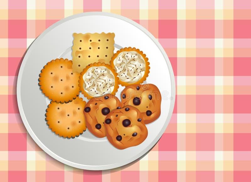 曲奇饼 皇族释放例证