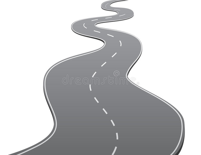 曲折的路 向量例证