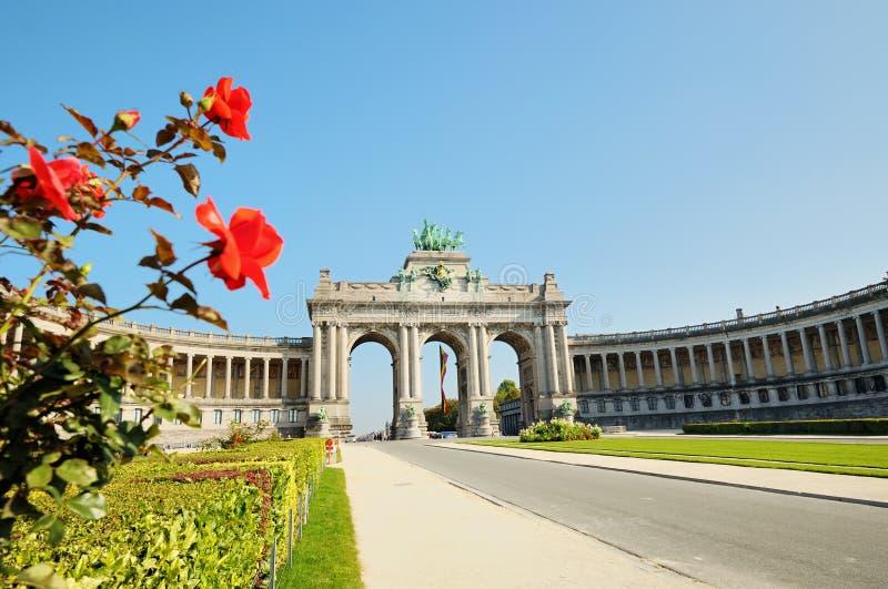 曲拱凯旋式的布鲁塞尔 免版税图库摄影