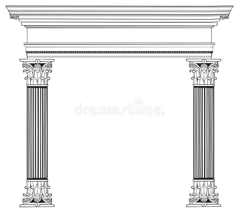曲拱列希腊 库存例证