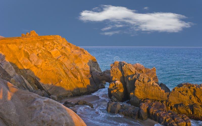 曲拱加州mugu点 免版税图库摄影