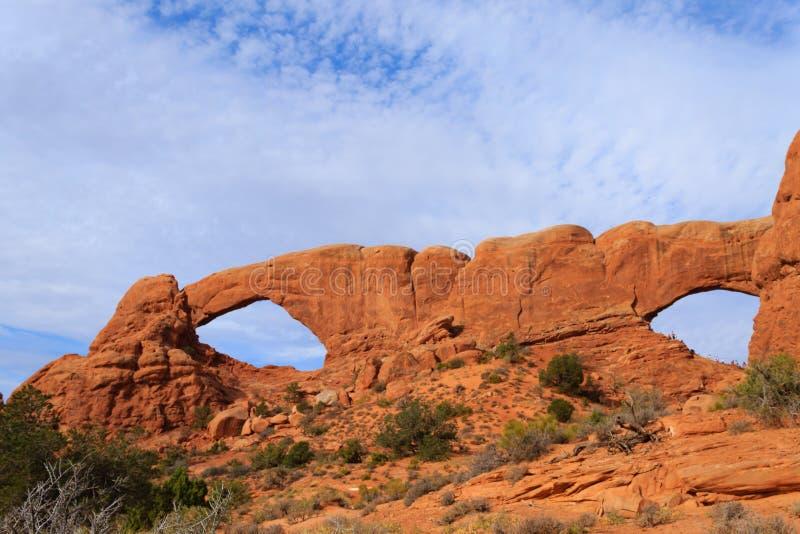 曲拱国家公园,默阿布,美国 免版税库存照片