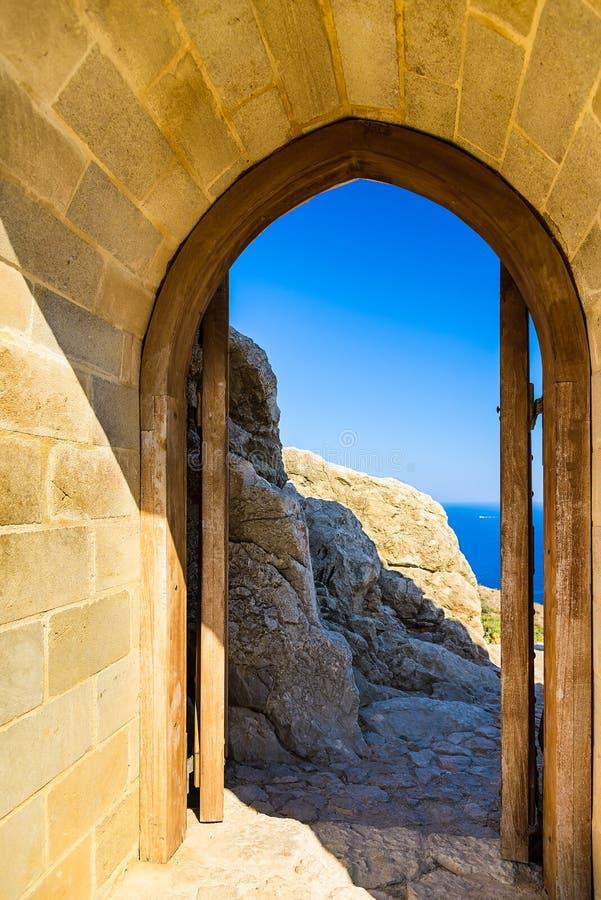 曲拱在堡垒 图库摄影