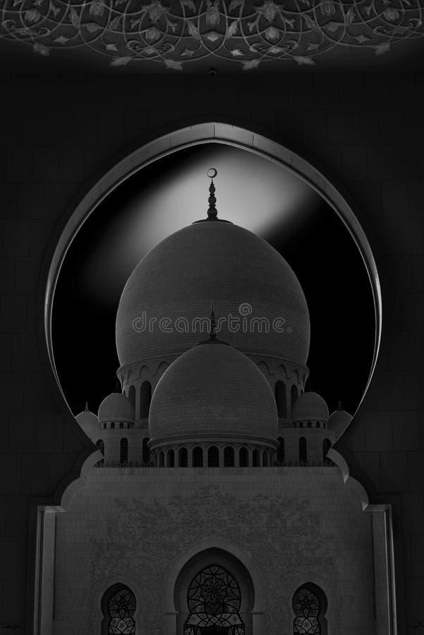 曲拱在清真寺 免版税库存照片