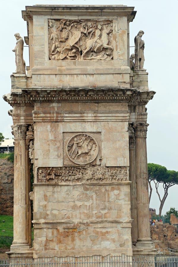 曲拱康斯坦丁罗马 免版税库存图片
