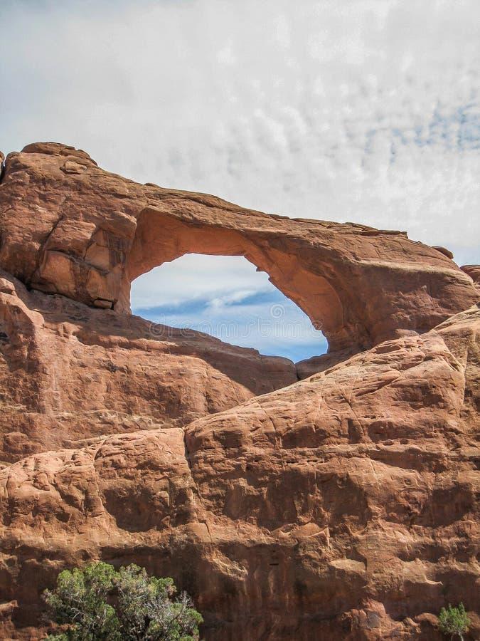 曲拱成拱形国家公园地平线 免版税库存图片