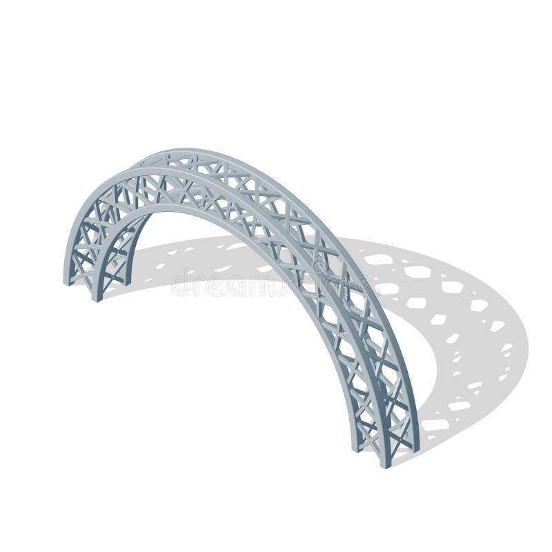 曲拱捆 也corel凹道例证向量 3D等量样式 向量例证