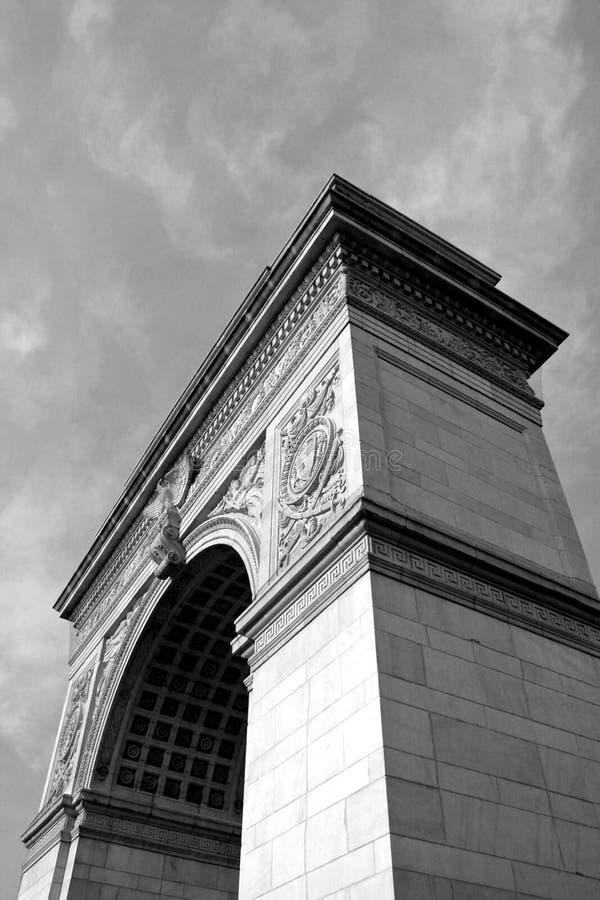 曲拱方形华盛顿 库存照片