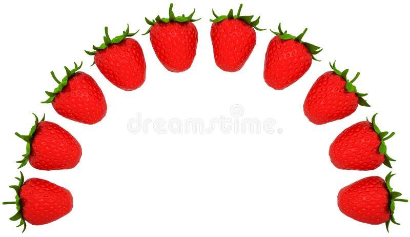 曲拱查出的形状的草莓 向量例证